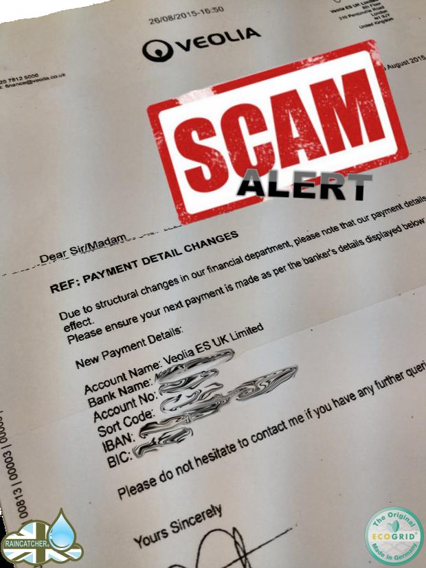 Veolia Scam Letter