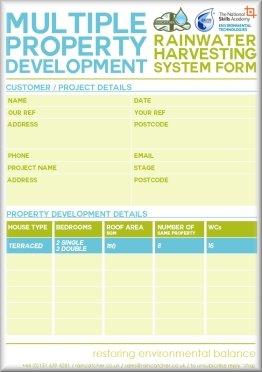 RainCatcher - Multiple Property Development Form