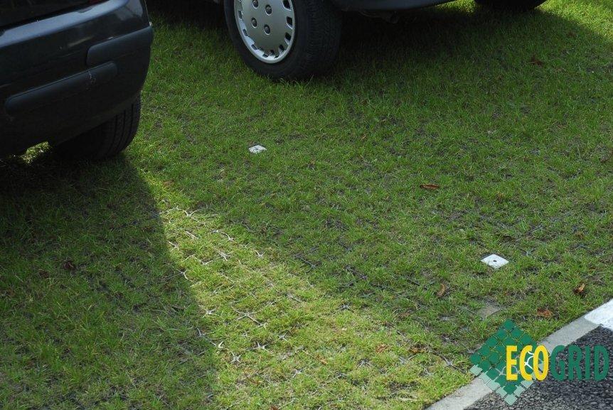 1sqm Ecogrid E40 Black Plastic Porous Paving Ground