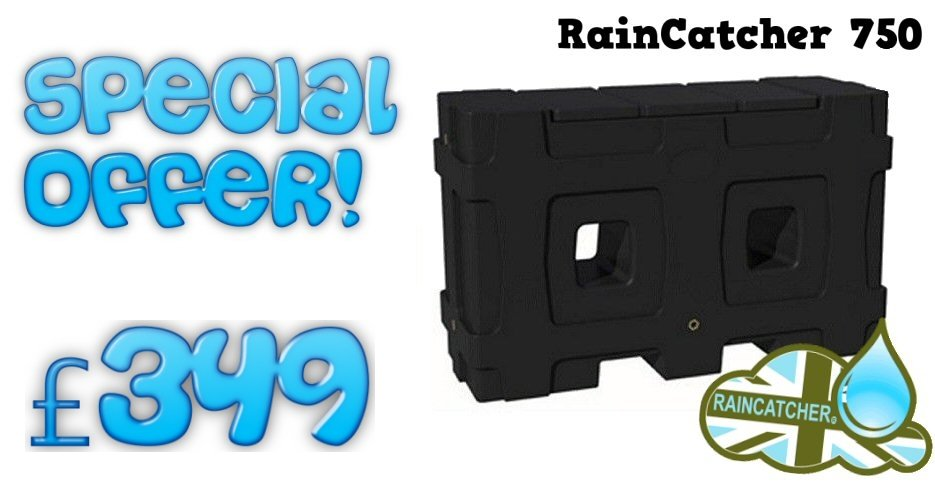 RainCatcher 750L Rainwater Tank - £349 Special Offer!